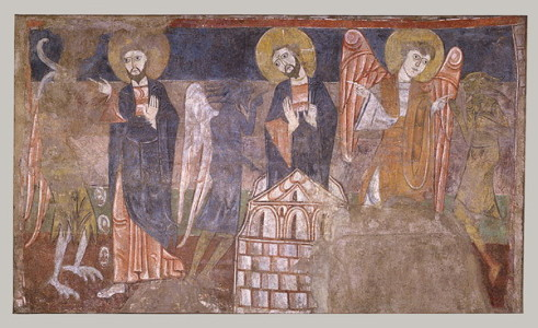 Anonymous Spanish Master The Temptation of Christ Hermitage of San Baudelio de Berlanga province of Soria Spain c 1125