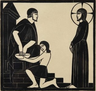 Eric Gill Jesus and Pilate