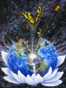 earth-in-lotus-with-butterflies