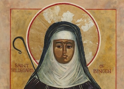 Icon of St. Hildegard of Bingen by Augustinian Father Richard G. Cannuli